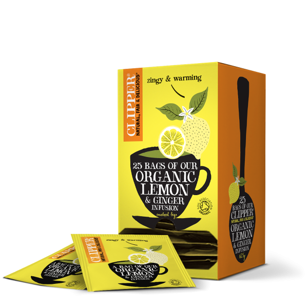 lemon and ginger string and tag tea