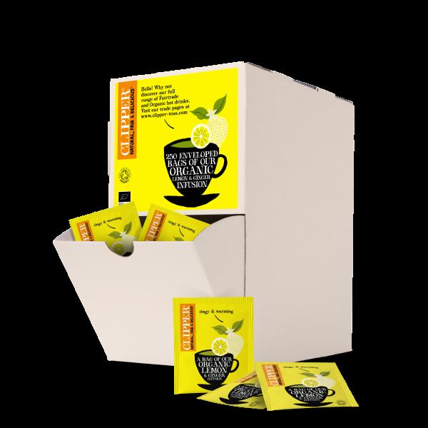 lemon ginger string and tag tea