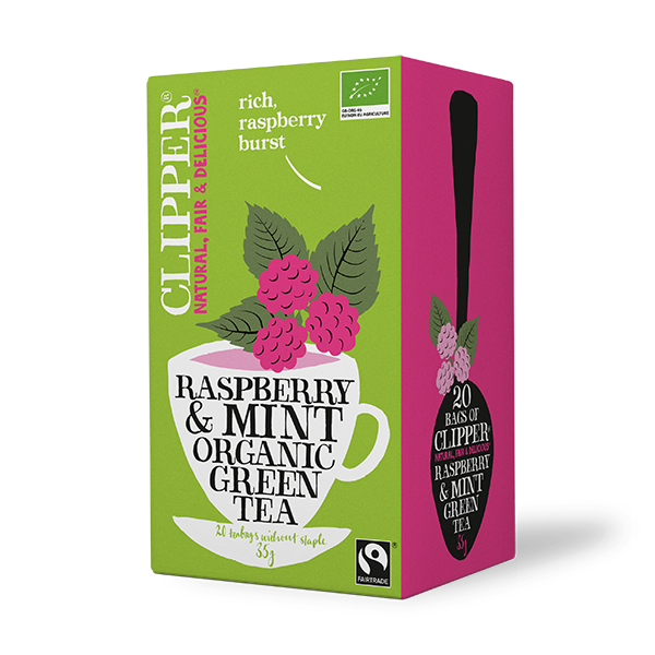 Organic Green Tea Raspberry Mint