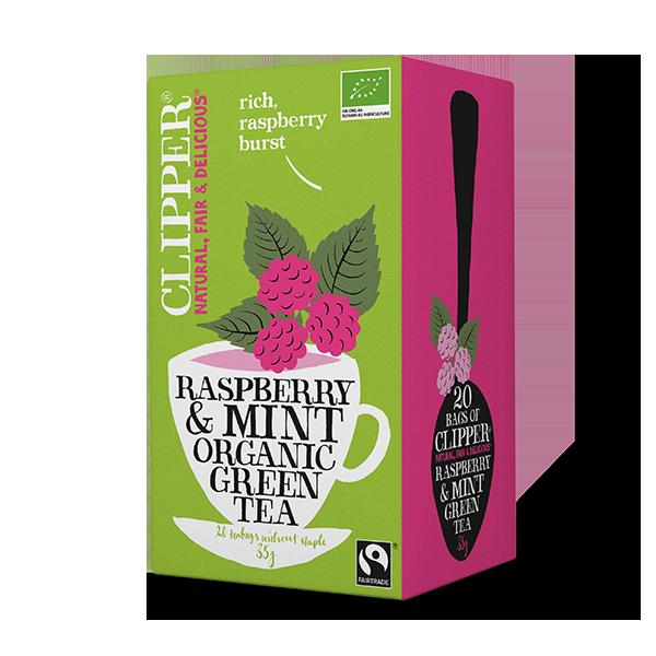 Organic Green Tea Raspberry Mint